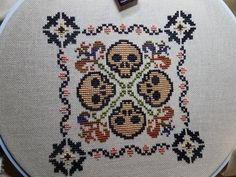 """0 Likes, 1 Comments - Susan @ the Stitchin Post (@stitchinpostcrafts) on Instagram: """"January block finally done. 32 ct butter rum jobelan with the called for threads. #AYCBsal…"""""""