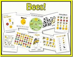 Bee theme printables