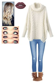 """""""Untitled #2886"""" by pinki123456 ❤ liked on Polyvore featuring UGG Australia and Lime Crime"""