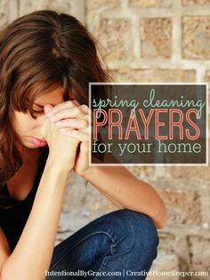 Do you regularly pray over your home? How about making it a part of your regular cleaning schedule with these room by room prayer cards? You never know, this simple trick might even make you enjoy cleaning!!!
