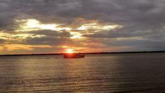 Pôr-do-sol no Portal da Amazônia