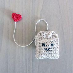 Handmade Crochet Amigurumi Play Food Tea Bag