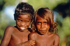 A new study of the DNA of Aborigines, such as the children pictured above, and Asians suggests all modern-day humans can be traced to one lineage in Africa.