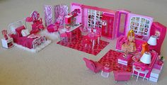 """Deborah is lola..another one of her fab diorama's this one is my fav, she calls it """"Projectile Pink""""..LOL I think she hit it right on the head.."""