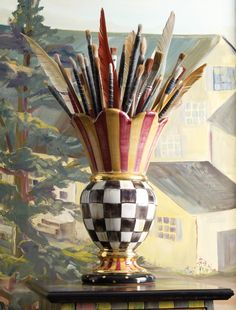 A bountiful bouquet of brushes.