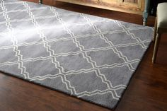 $5 Off when you share! Tuscan Trellis VS105 Grey Rug | Contemporary Rugs #RugsUSA