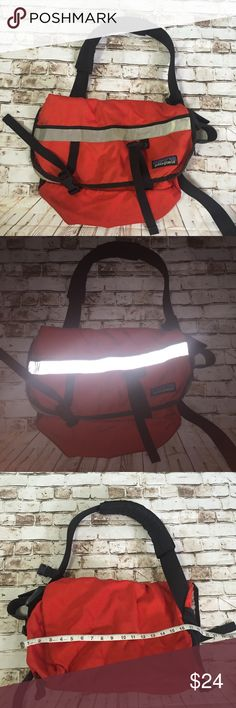 Patagonia reflective red messenger handbag Signs of use straps are hard to adjust due to stiffness still a high quality sturdy backpack Patagonia Bags Messenger Bags