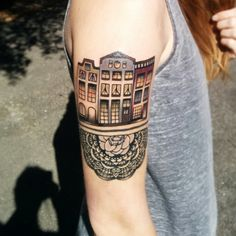 Amsterdam canal houses tattoo amsterdamtattoo for Tattoo amsterdam walk in