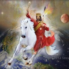 Jesus coming back on a White Horse