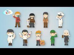 Viele Berufe lernen für Kinder und Kleinkinder zum mitsprechen (deutsch) - YouTube Puppets, German, Teaching, Happy, Foreign Language, Fictional Characters, Film, Box, Youtube