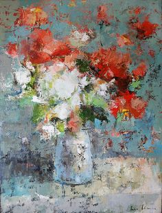 "They Just Bloom 40x30"". Art of Julia Klimova  