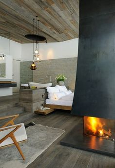 Cool fireplace....