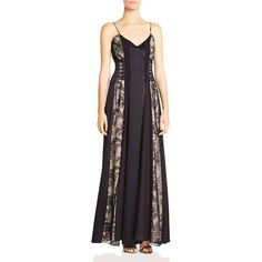 Haute Hippie Soul Of The World Embellished Silk Gown ($615) ❤ liked on Polyvore featuring dresses, gowns, black, floor length dresses, goth gown, silk evening gowns, silk gown and gothic gowns