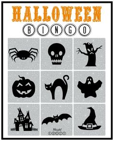 halloween bingo tutorial or so she says can be used for any - Preschool Halloween Bingo