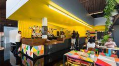 Morag Myerscough designs colourful interiors for London arts centre