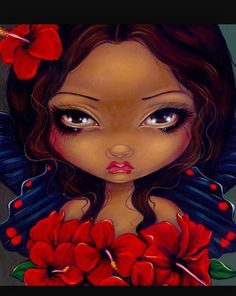 Tiki Art Prints Archives - Strangeling: The Art of Jasmine Becket-Griffith Animal Art Prints, Canvas Art Prints, Fine Art Prints, Jasmine Becket Griffith, Hibiscus Bush, Tiki Art, Gothic Fairy, Steampunk Fairy, Hibiscus