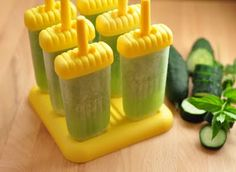 Honeydew-Cucumber-Mint Popsicles I like to use a very ripe honeydew melon for this recipe. You could also add the juice from one to two limes for a refreshing tart flavor.. 1 medium to large honeydew melon, seeded 1 large cucumber, chopped 1 large handful fresh spearmint leaves