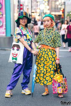 Harajuku Girls in Colorful Street Styles w/ San-Biki No Koneko, Grapefruit Moon, Flying Tiger, Kinji Harajuku The Effective Pictures We Offer You About Womens Street Style shirt A quality picture can Asian Street Style, Tokyo Street Style, Japanese Street Fashion, Tokyo Fashion, Harajuku Fashion, Kawaii Fashion, Street Style Women, Fashion Outfits, Street Styles