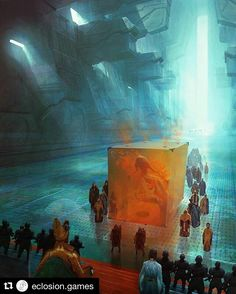 """#Repost @eclosion.games with @repostapp ・・・ Art by @marc.simonetti : 'The emperor and the guild', one of the interior illustrations made for """"Dune Messiah"""" by Frank Herbert for Centipede Press ____ #digitalart #digitalpainting #helloeclosion #inspiration #inspiring #paint #painting #artsy #picoftheday #artoftheday #bestartfeatures #epic #epicfantasy #instagood #graphic #cgart #bestartist #illustration #drawing #draw #pen #pencil #artwork #characterdesign #fantasy #fantasyart #instaart…"""