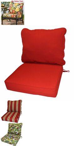 Cushions And Pads 79683: Deep Seat Cushion Set Outdoor Patio Furniture Seat  Garden Pad Dining