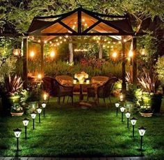 Backyard Patio Lighting Ideas The New Way Home Decor Patio intended for 14 Genius Ways How to Upgrade Backyard Lighting Ideas Romantic Backyard, Backyard Canopy, Modern Backyard, Backyard Garden Design, Diy Garden, Backyard Patio, Backyard Landscaping, Backyard Ideas, Landscaping Design