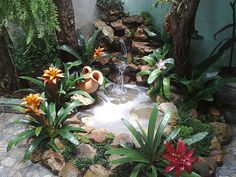 Enjoy the Peace and Serenity with Backyard Pond Decor 8 Pond Landscaping, Ponds Backyard, Landscaping With Rocks, Indoor Waterfall, Pond Waterfall, Turtle Homes, Small Balcony Garden, Pond Fountains, Water Features In The Garden