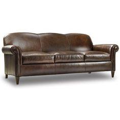 Bradington-Young George Leather Sofa Finish: Casablanca, Upholstery: 905500-25