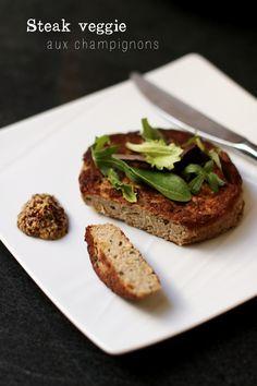 Recette steak veggie maison (toujours utiliser du tofu Bio) ou le remplacer par des pois chiches