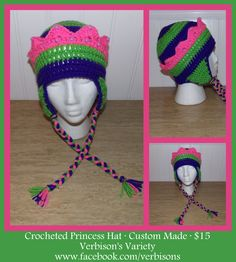 Custom Crocheted Princess Hat