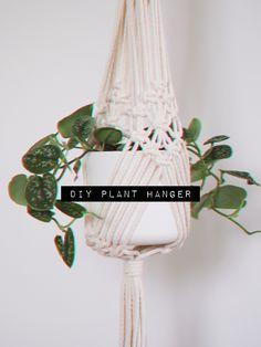 easy plant hanger for bigger pots 🖤 Plant Hanger, Diy Tutorial, Macrame, Pots, Easy, Crafts, Manualidades, Handmade Crafts, Craft
