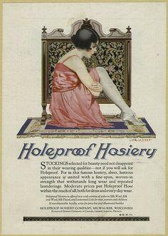 Holeproof Hosiery - Milwaukee, Wisc.   art nouveau vintage ad