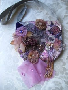Romantic+tattered+lace+embellished+purse+by+KillarneyFields,+$55.00
