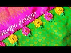 ಪೈನಾಪಲ್ ಕ್ರೊಶ ಕುಚ್ಚು ಡಿಸೈನ್ /🍍🤔pineapple krosha kuchu design - YouTube Crochet Cord, Crochet Motif, Crochet Designs, Creative Embroidery, Hand Embroidery Designs, Embroidery Stitches, Saree Kuchu New Designs, Saree Tassels Designs, Crochet Flower Tutorial