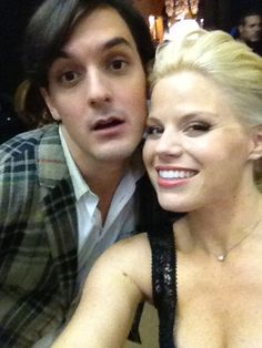 First day of shooting on ‪#Smash‬ and @WesTayTay & I are already up to no good! - via @MeganHilty