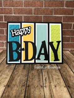 Cricut Birthday Cards, Homemade Birthday Cards, Masculine Birthday Cards, Birthday Cards For Friends, Kids Birthday Cards, Scrapbook Birthday Cards, Cricut Cards, Masculine Cards, Diy Birthday Cards For Dad
