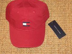 49d3c9eda47 Tommy hilfiger baseball cap men s big flag logo red sport classic new