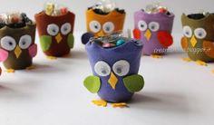 TUTORIAL - Gufetti porta-dolcetti con i vasetti degli yogurt