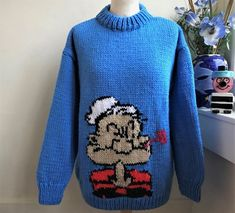 455e2ebc4118 Hand Knitted Chunky Popeye Sweater Jumper by Bexknitwear