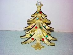 Christmas Tree Brooches TeamVintageUSA by Rita Scott on Etsy