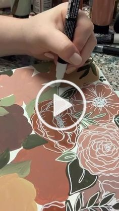 Katie( on TikTok: I don't offer customs of these, but I'll do more giveaways in the future💕 Acrylic Painting Flowers, Acrylic Painting Canvas, Canvas Art, Canvas Painting Tutorials, Diy Painting, Art Floral, Painting Glass Jars, Cool Art Drawings, Posca