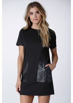 Don't Front Mini Shift Dress in Black | Necessary Clothing