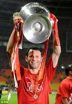 Ryan Giggs was part of Manchester United's Champions League winning teams in 2008 and 1999