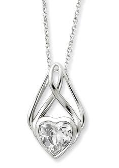 Cz Gemstone Heart love it!