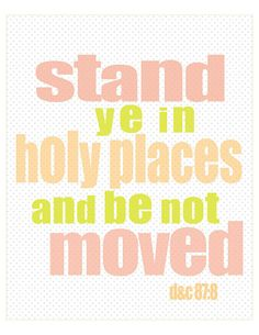 Stand Ye In Holy Places youth theme wall art pdf printable