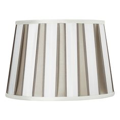 12 Oval Natural Vertical Striped Lamp Shade