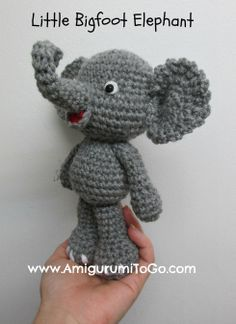 Amigurumi To Go: Cute Elephant Video Tutorial In The Works. ༺✿ƬⱤღ  https://www.pinterest.com/teretegui/✿༻