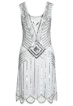 Best Seller- 1920s style flapper dress - Frock and Frill ATHENA Cocktail dress / Party dress white