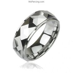 Multi-faced prism tungsten carbine ring #mspiercing #piercings