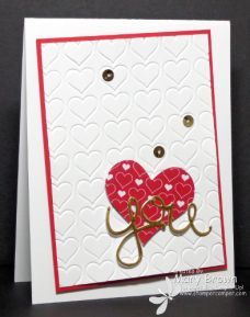 SUO115 - SU - no stamps! Happy Hearts Embossing Folder, Hello You Thinlits, Mini Treat Bag Thinlits