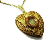 Steampunk Necklace The Heart of the Matter by Dr Brassy Steampunk - www.wee-do.com